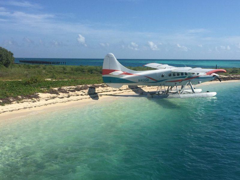 Hidroavião autorizado a entrar no Dry Tortugas. Foto Enjoy Miami