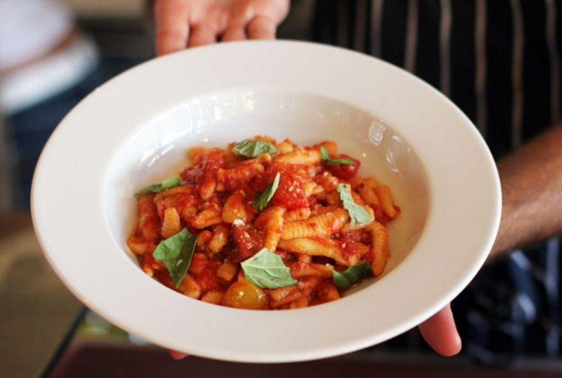 Cavatelli como molho de tomate. Foto: Salumeria 104