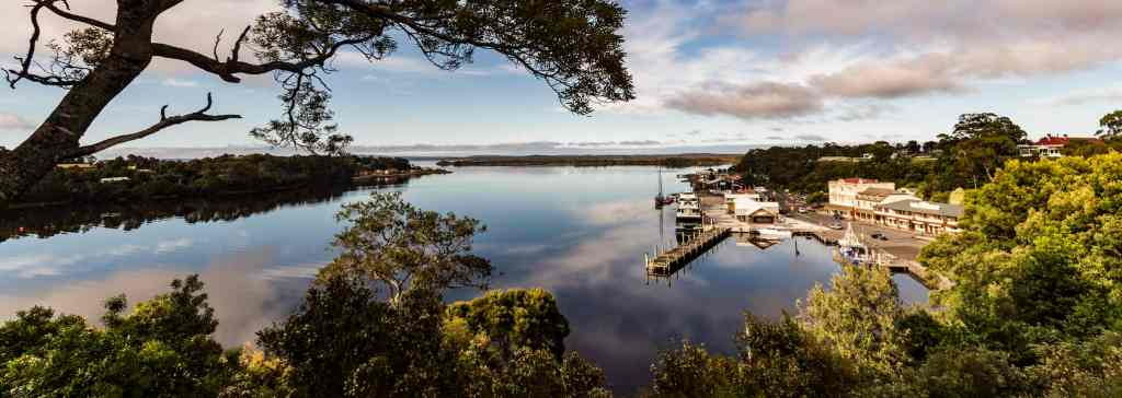 The west coast township of Strahan. Picture: Steven Penton