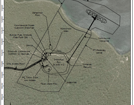 The proposed Southwood Fibre port at Dover, in southern Tasmania. Source: Southwood Fibre