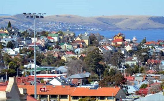 North Hobart ... property prices have risen over the past year