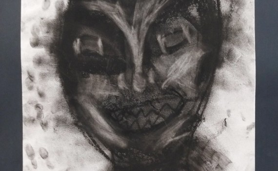 'Sleepless Nights in Black' ... Joshua Clement's entry in the 2018 Young Archies in Hobart, Tasmania