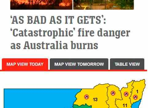 News Ltd vs NSW Rural Fire Service outlooks