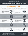 10 reasons why personal injury attorneys decline a case