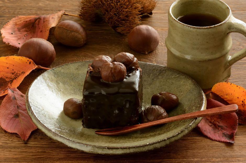 kuchen mit maronen und honig
