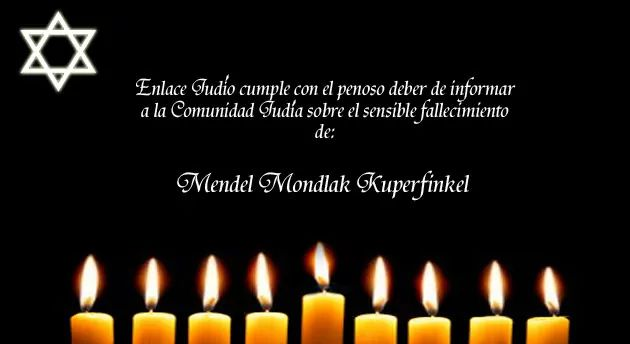 Nos unimos a la pena que embarga a la familia Mondlak – Kuperfinkel