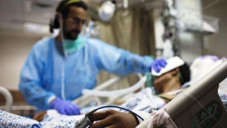 Sirios heridos internados en el Hospital Ziv de Tzfat