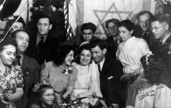 1946 - Matrimonio de Sobrevivientes del Holocausto en Israel - Enlace Judío México