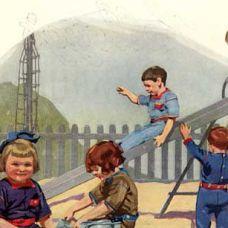 1912 UN JUEGO DE NIÑOS LS&Co. introduce los petos para niños, una prenda vaquera de una pieza ideal para jugar.