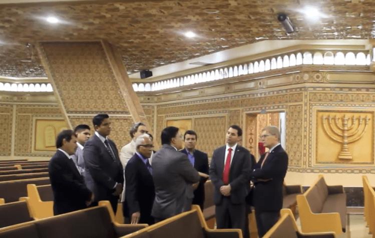 """Diplomáticos israelíes visitaron la Iglesia """"La Luz del Mundo"""" en Guadalajara"""