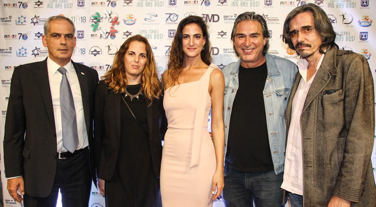 """""""Como Israel no hay dos"""". Dos estrellas de la serie israelí """"Fauda"""" en el estreno de muestra de cine"""