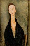 """Amedeo Modigliani, """"Lunia Czechowska"""", 1919 óleo sobre lienzo, 31Ω x 20Ω in. (80 x 52 cm) Museo de Arte de Sao Paulo"""