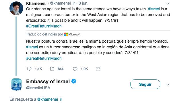 """Israel """"trollea"""" a Irán en Twitter"""