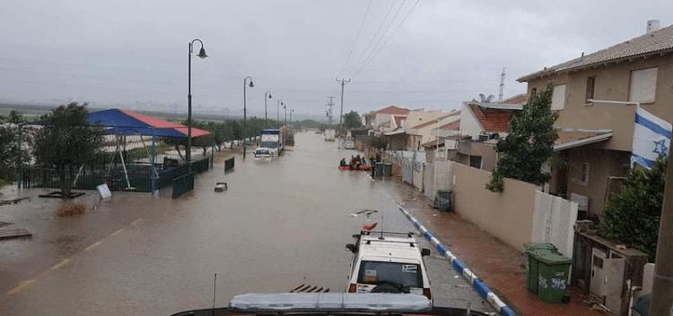 Fuertes lluvias azotan el centro y norte de Israel