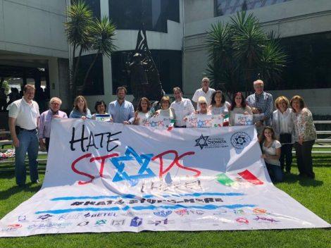 No al antisemitismo-México1