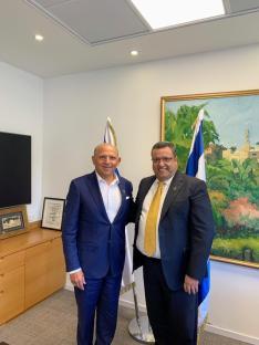 Con Moshe Lion, alcalde de Jerusalem
