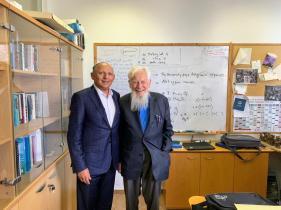 Con el Prof Robert Aumann, Premio Novel y Miembro del consejo de Ilan