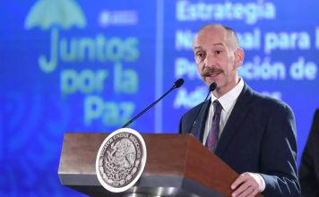 El titular de la Conadic en la conferencia matutina en Palacio Nacional