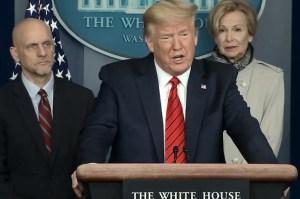 Donald Trump desinfectante