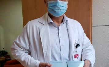 La asociación de Voluntarias Judeo Mexicanas hicieron una donación de 4 termómetros infrarrojos al Hospital de la Mujer de la Ciudad de México