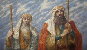 Aaron, hermano mayor de Moisés. Nació en 2365 del calendario judío, tres años antes de Moisés, antes del edicto del faraón y murió un día como en 1273 AEC