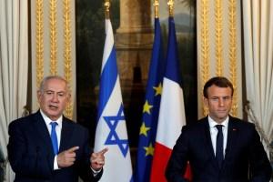 Netanyahu, Macron