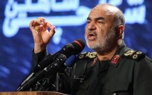 Hossein Salami, jefe del Cuerpo de la Guardia Revolucionaria Islámica en Irán, prometió venganza en un mensaje dirigido al presidente de EE.UU, Donald Trump