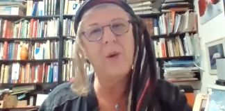Ethel Baruylka durante una entrevista vía remota con Enlace Judío