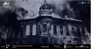 """Imagen de la página de la iniciativa de Kristallnacht con un mensaje de unidad y esperanza, a través de """"Let There Be Light"""", para encender una luz"""