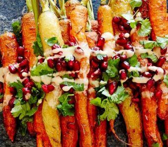 Recetas para Sucot: Zanahorias asadas con granada y zumaque