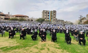 Funeral masivo de Sheikh Abu Zain Al-Din Hassan Halabi de la comunidad drusa