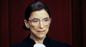 Retrato de la fallecida juez judía de la Suprema Corte de EE.UU, Ruth Bader Ginsburg