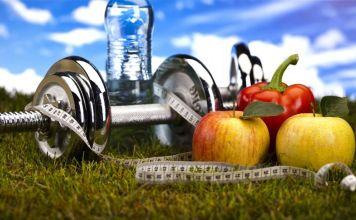 ilustración de dieta y ejercicio