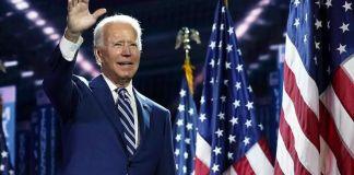 Joe Biden durante un discurso