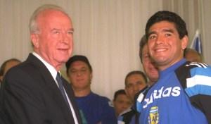 Maradona e Yitzhak Rabin