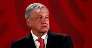 El presidente de México, Andrés Manuel López Obrador (AMLO) durante una conferencia de prensa