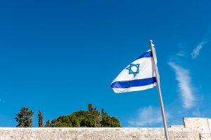 Bandera de Israel en una sede diplomática israelí