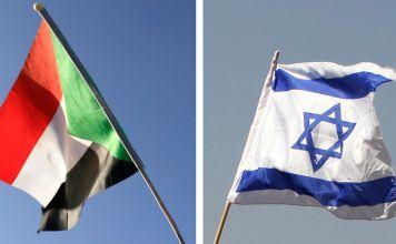 Las banderas de Israel y Sudán