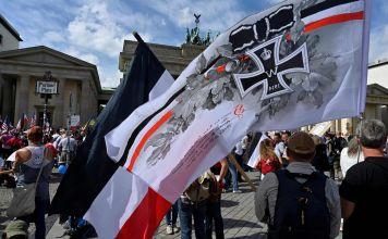 Manifestantes de ultraderecha en Alemania