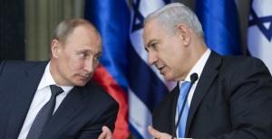 El presidente ruso Vladimir Putin y el primer ministro israelí Benjamín Netanyahu durante un encuentro
