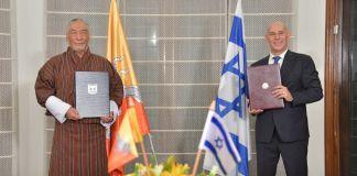 Representantes de Bután e Israel