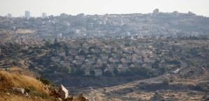 Panorama de un asentamiento israelí en Judea y Samaria