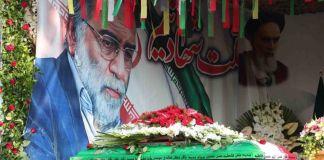 Ataúd del científico nuclear iraní Mohsen Fakhrizadeh