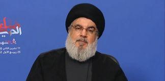 Hassan Nasrallah, líder de Hezbolá, durante un discurso