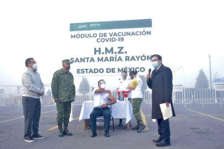 Aplicación de la vacuna en el Estado de México.