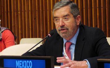 Juan Ramón de la Fuente durante un discurso en la ONU