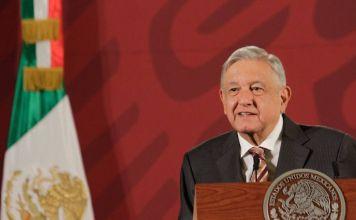 Andrés Manuel López Obrador en una rueda de prensa