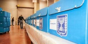 Urnas para las elecciones de Israel