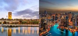 Imágenes de Rabat, Marruecos, y Dubái, Emiratos Árabes Unidos