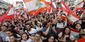 Manifestación en Líbano